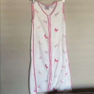 Baby swaddle Pink and White with Butterflies